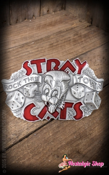 Rumble59 Buckle - Stray Cats Rock this town