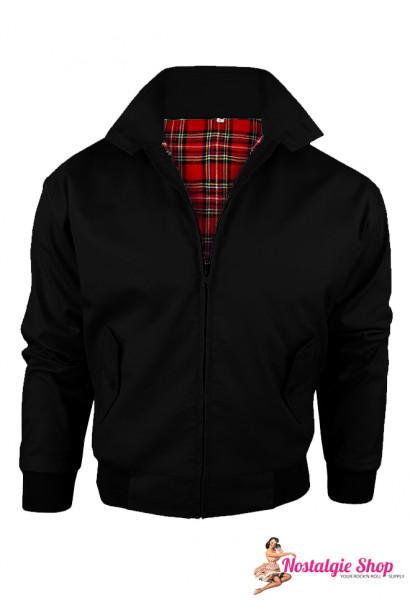 Harrington Jacke Übergröße - schwarz