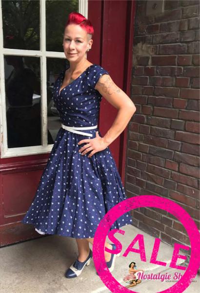 Sailor Petticoat Kleid Anker und Sterne.50er Rockabella