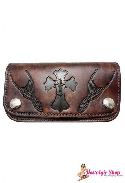 Running Bear Portemonnaie - antik Tribal Biker Wallet - groß