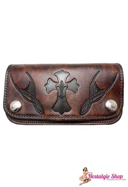 Running Bear Portemonnaie - antik Tribal Biker Wallet - groß