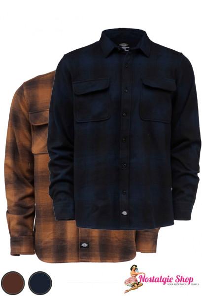 Flanellhemd Waneta blau oder braun