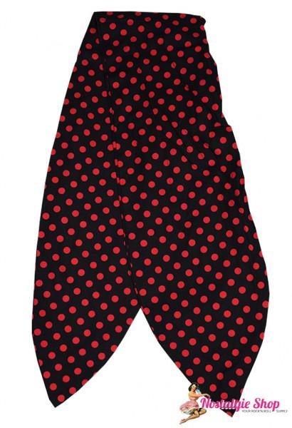 Tiki Haarband mit Draht - Punkte schwarz/rot oder rot/schwarz