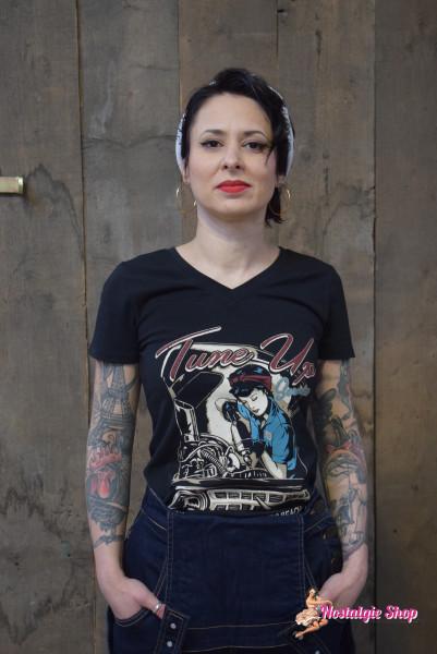 """Damen T-Shirt """"Tune Up"""" von Queen Kerosin"""