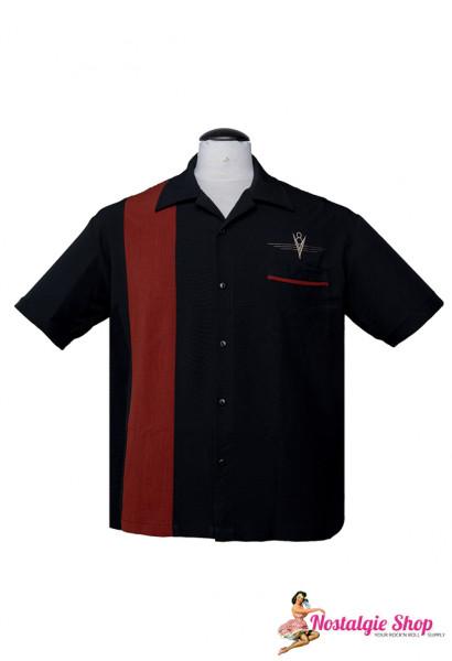 Steady Retro Bowling Shirt - V8 Classic Rust