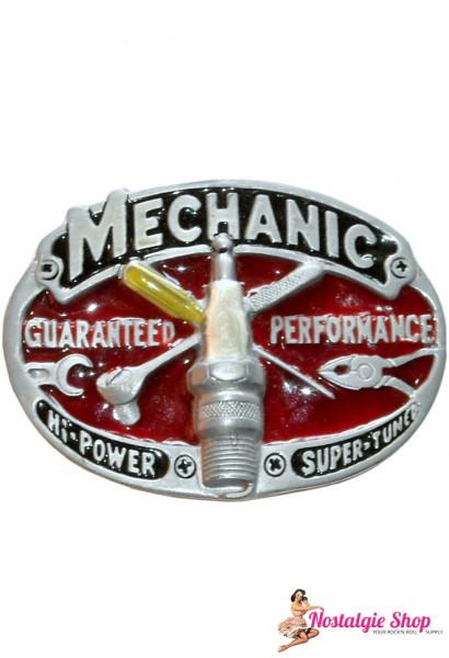 Buckle - Mechanic mit Zündkerze