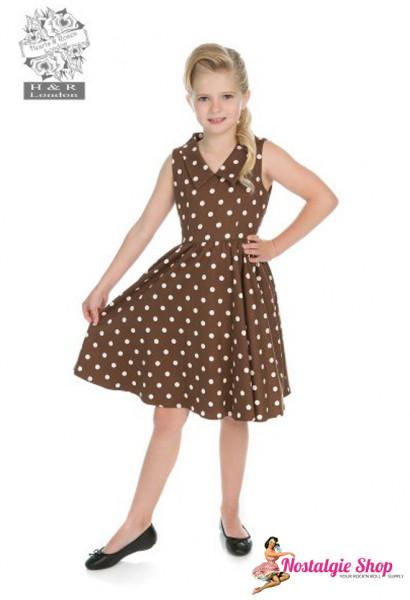 Kinderkleid Chocolate Polka