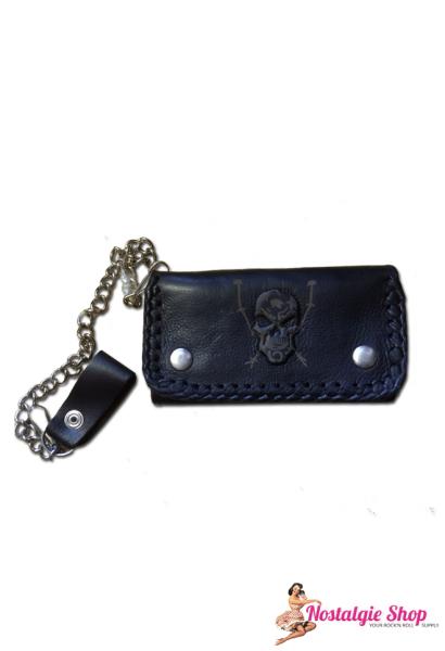 Running Bear Portemonnaie - 3D Totenkopf Biker Wallet with Chain