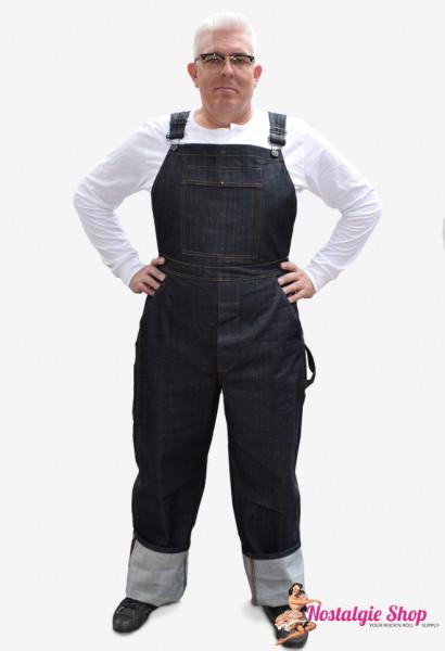 Miner 57 Raw Denim Jeans Latzhose 16 oz, Super Sale