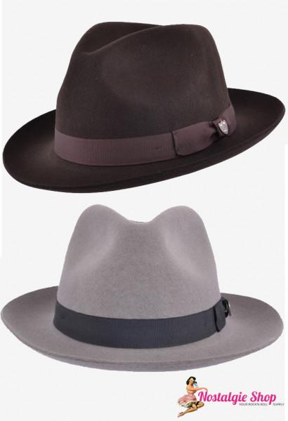 Gladwin Bond Fedora Hut - braun oder grau