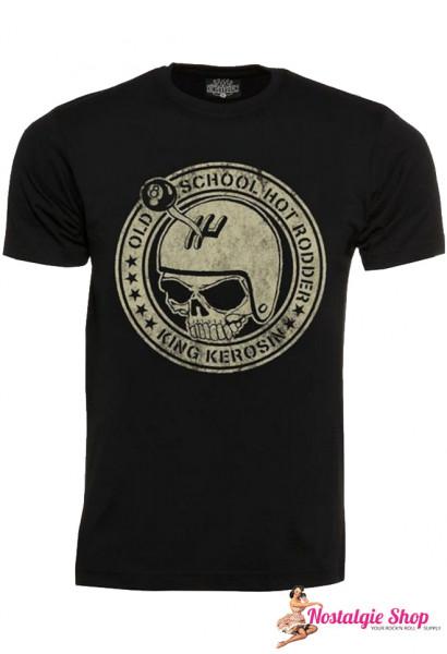 KK Old School Hot Rodder T-Shirt in schwarz