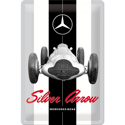 Blechschild 20 x 30 Mercedes-Benz - Silver Arrow