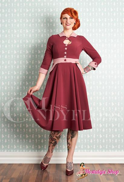 Miss Candyfloss Hania-Plum Swingkleid