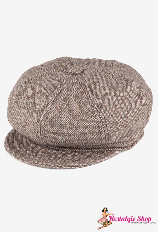 New York Hat Co. Newsboy Cap Salt & Pepper braun