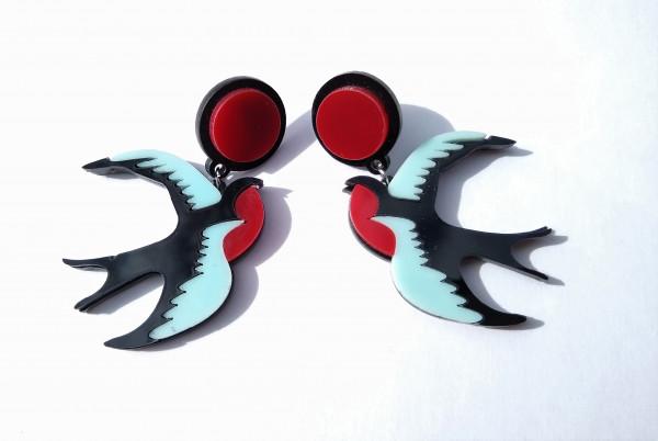 Voodoo Vixen Ohrringe Schwalben