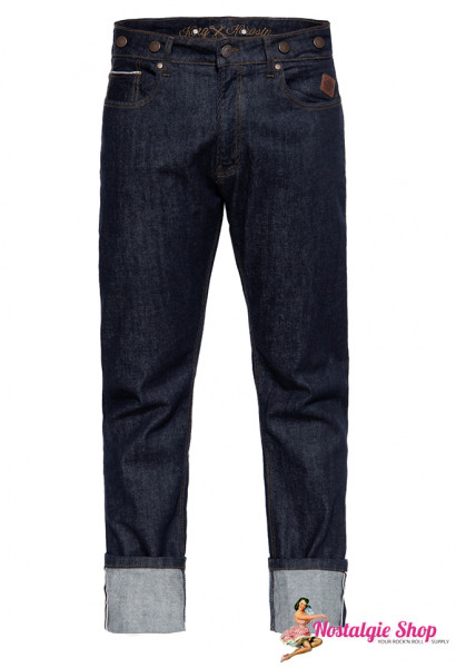 KK Robin Selvedge Rockabilly Jeans mit Cinch Back, neues Modell