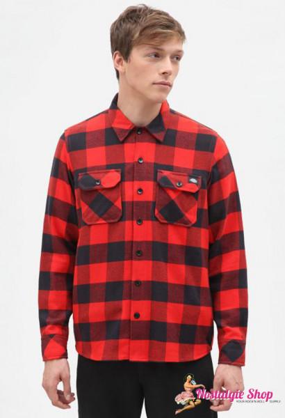 Dickies Holzfällerhemd Sacramento - rot /schwarz
