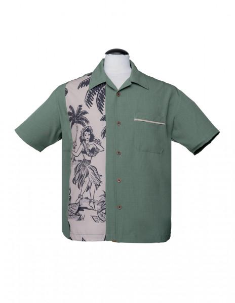 Steady Retro Bowling Shirt The Leilani Tiki Pin Up Tanz, 50er Rockabilly