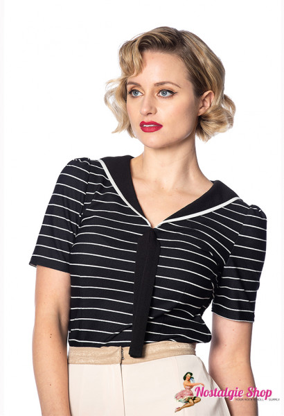Pier Stripe Sailor Top