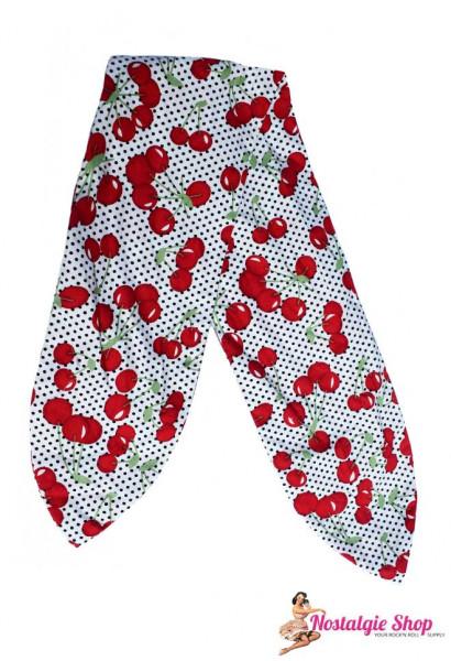 Tiki Haarband mit Draht - Kirschen und Punkte