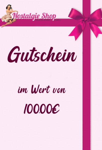 Nostalgieshop Gutschein - 100 Euro