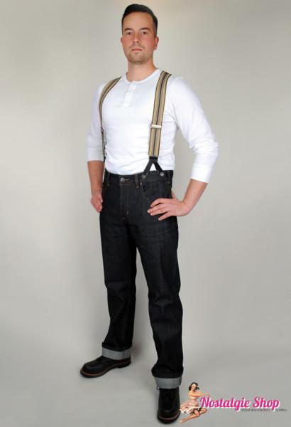 Miner 57 Vintage Style Hosenträger - verschiedene Farben