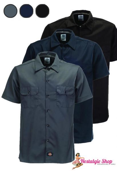 Workshirt plain slim fit - verschiedene Farben