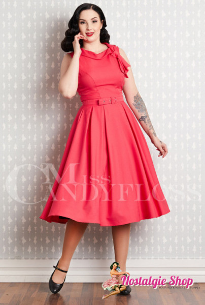 Miss Candyfloss Thelise - Coral Swingkleid