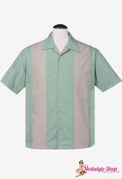 Steady Bowling Shirt - Simple Times mint