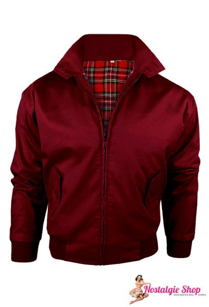 Knightbridge Harrington Jacke - bordeaux