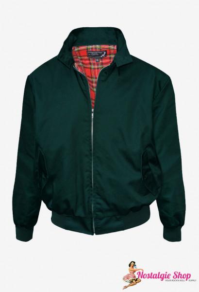 Harrington Jacke - flaschengrün Oldschool Farbe