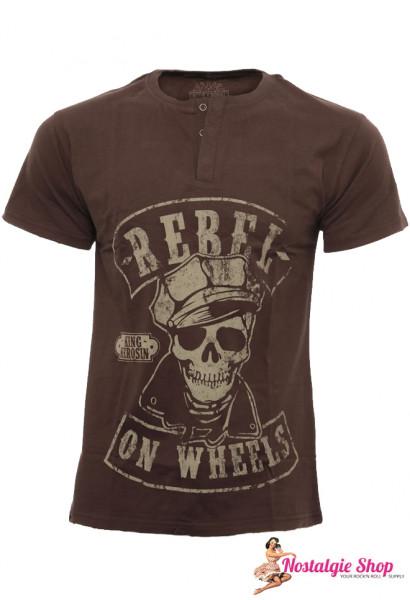 KK Rebel on Wheels T-Shirt mit Knopfleiste