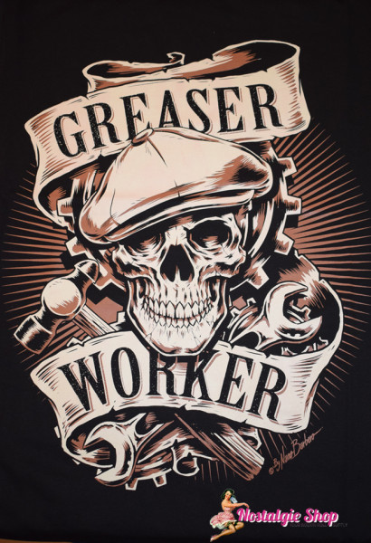 Nano Barbero Rockabilly T-Shirt Greaser Worker