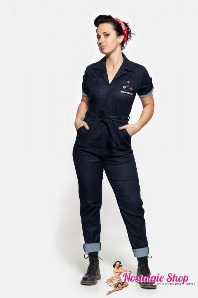 """Queen Kerosin Workwear Overall """"Speedway""""- denim"""