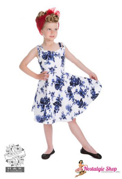 Kinderkleid blaue Rosen