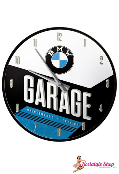 Nostalgic Art Wanduhr BMW Garage