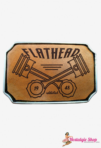Rock cat Roll Buckle Leder - Flathead Addicted
